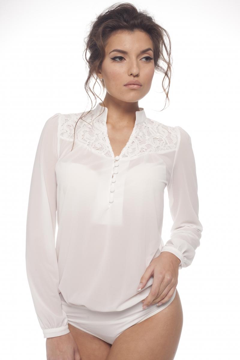 Блузка Боди Белая Купить В